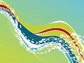 abstract wave halftone vector illustration