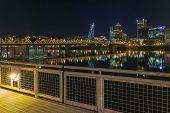 Portland Eastbank Esplanade Waterfront At Night