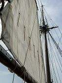 Close-up Of Sail And Mast