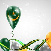 Flag of Mauritania on balloon