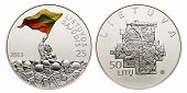 commemorative circulation  50 litas coin