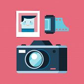 Analogue Photography Equipment, Camera, Photo And Film