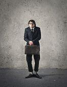 Nerd businessman