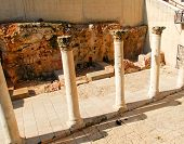 stock photo of cardo  - Ancient Roman main street through Jerusalem called the Cardo - JPG