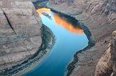 Sunrise at Colorado River in Horseshoe Bend at Page Arizona