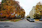Zverynas District In Vilnius At Afternoon Time