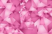 stock photo of pinky  - Pink Triangles Background Pattern - JPG