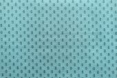 Pale Turquoise Fabric With Spots Ovals