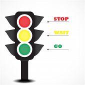 Traffic Light Symbol.