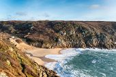 The Beach At Porthcurno