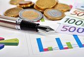 Euro Money And Pen