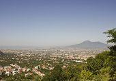 Landscape View Of The Vesuvio