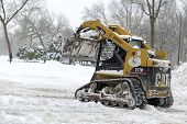 Snow removal equipment in Manhattan after snowstorm