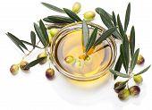 Olives In A Bowl Of Olive Oil