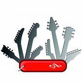 All Purpose Guitar Knife Music Design