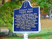 Cataract Falls Covered Bridge Sign
