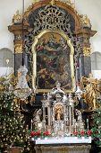 GRAZ, AUSTRIA - JANUARY 10, 2015: Main altar, Mariahilf church in Graz, Styria, Austria on January 10, 2015.