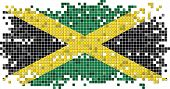 Jamaican grunge tile flag. Vector illustration