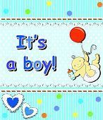 Card For The Birth Of A Child boy