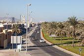 Street In Kalba, Emirate Of Fujairah