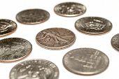 Coins, Dollars and Half Dollars