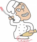Urban Indie Comic Pastry Chef Baking Frosting