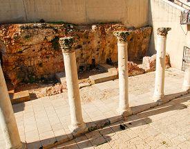 image of cardo  - Ancient Roman main street through Jerusalem called the Cardo - JPG