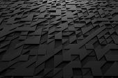 stock photo of fi  - Abstract 3d rendering of black futuristic surface with triangles - JPG