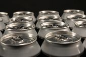 image of hermetic  - group of aluminum beverage cans - JPG