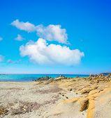 pic of shoreline  - Santa Reparata shoreline under a cloudy sky - JPG