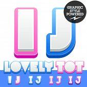 picture of letter j  - Vector cute alphabet for children - JPG
