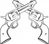 pic of sub-machine-gun  - crossed pistols - JPG