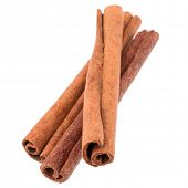 picture of cinnamon sticks  - cinnamon stick spice isolated on white background closeup - JPG
