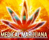 stock photo of medical marijuana  - Abstract background digital collage concept illustration medical marijuana - JPG