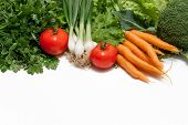 stock photo of farmers market vegetables  - Collection of fresh vegetables from the farmers - JPG