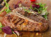 foto of t-bone steak  - T - JPG