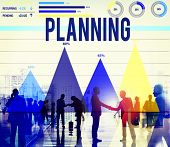 stock photo of objectives  - Planning Plan Strategy Direction Idea Objective Concept - JPG