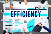 picture of efficiencies  - Efficiency Strategy Productivity Business Marketing Concept - JPG