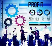 picture of accumulative  - Profit Benefit Accumulation Earning Accounting Concept - JPG
