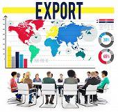 image of export  - Export International Shipping Logistics Transfer Concept - JPG