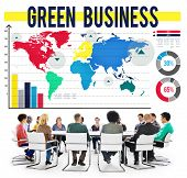 picture of environmental conservation  - Green Business Global Environmental Conservation Concept - JPG