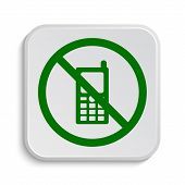 picture of restriction  - Mobile phone restricted icon - JPG