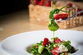 picture of vinegar  - Fresh Salad with strawberries - JPG