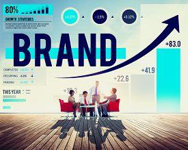 stock photo of emblem  - Brand Branding Logo Commercial Copyright Emblem Concept - JPG