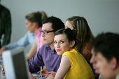 picture of young adult  - Young adults in business training - JPG