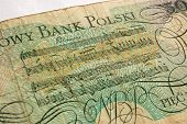 stock photo of chopin  - A Chopin Polonaise reproduced on a Polish zloty banknote - JPG