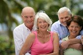 picture of 55-60 years old  - Portrait of senior couples smiling - JPG