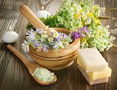 image of cosmetic products  - Natural Herbal Products - JPG