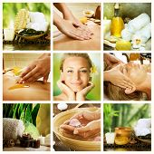 Conceito de Collage.Dayspa Spa