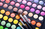 Make-up instellen.Professionele multicolor oogschaduw palet